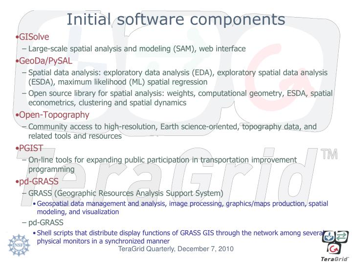 Initial software components