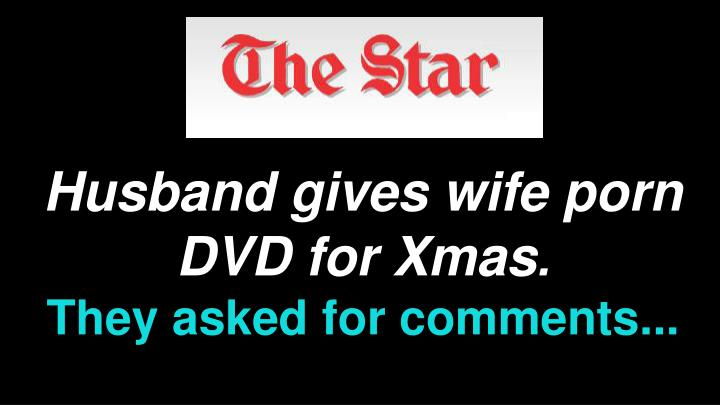 Husband gives wife porn DVD for Xmas