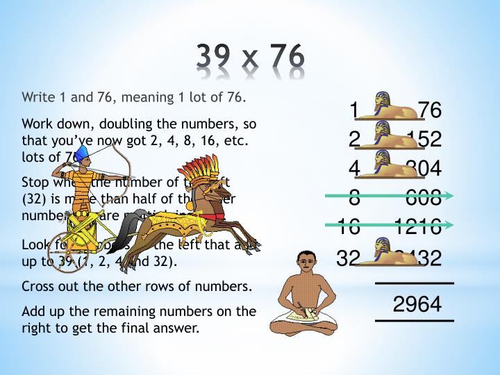 Write 1 and 76, meaning 1 lot of 76.