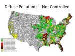 diffuse pollutants not controlled