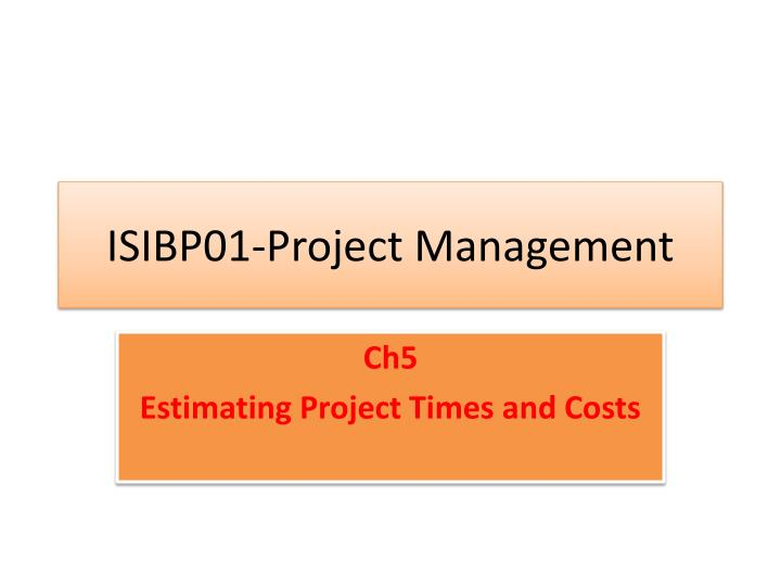 isibp01 project management n.