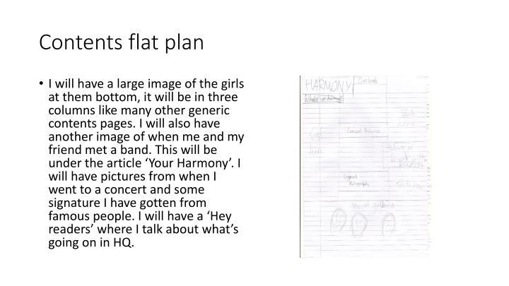 Contents flat plan