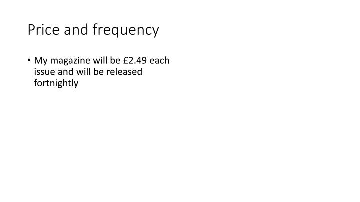 Price and frequency