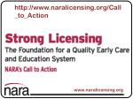 http www naralicensing org call to action