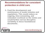 recommendations for consistent protection in child care3