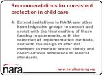 recommendations for consistent protection in child care4