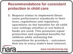 recommendations for consistent protection in child care5