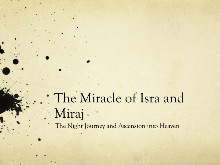 the miracle of isra and miraj n.