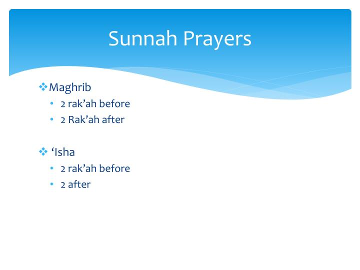 Sunnah prayers1