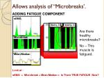 allows analysis of microbreaks