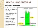 healthy muscle patterns