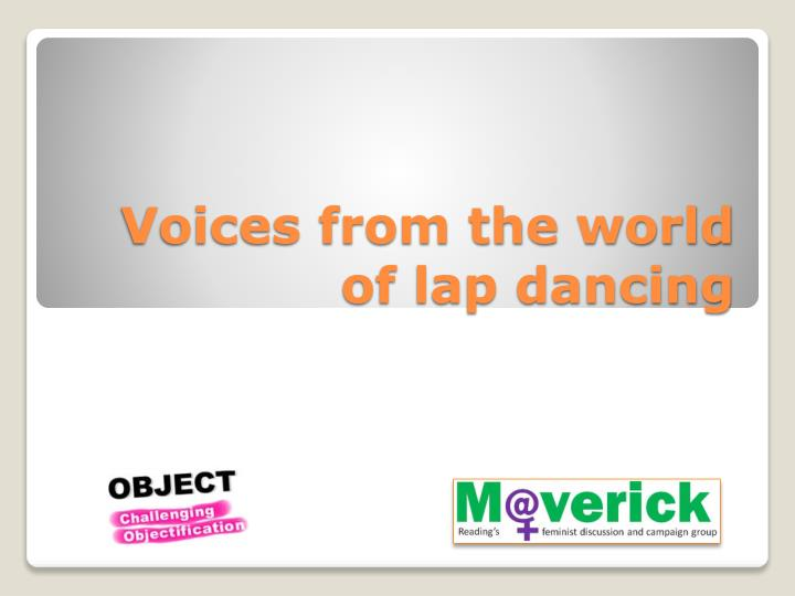 Voices from the world of lap dancing