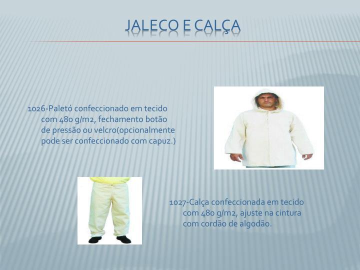 1026-Paletó confeccionado em tecido com 480 g/m2, fechamento botão de pressão ou