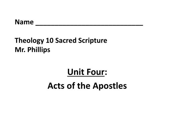 name theology 10 sacred scripture mr phillips n.