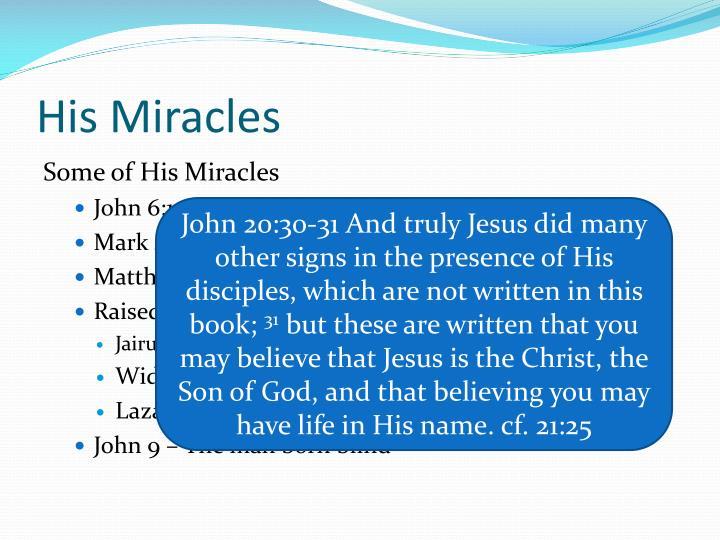 His Miracles