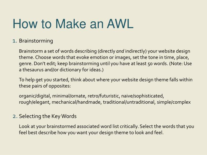 How to make an awl
