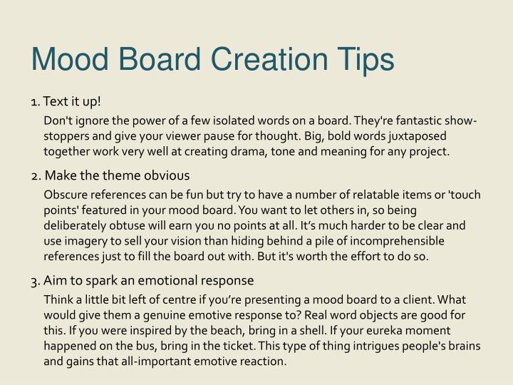 Mood Board Creation Tips