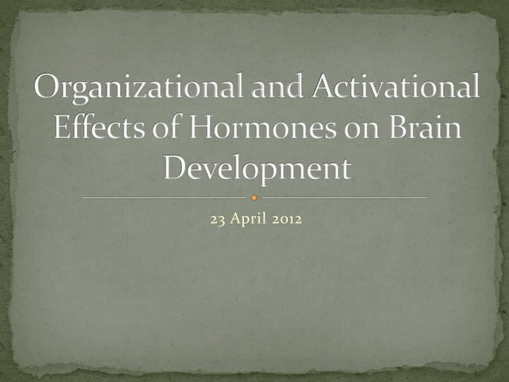 organizational a nd activational effects of hormones on brain development n.