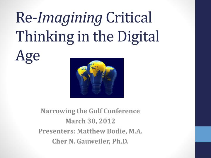 re imagining critical thinking in the digital age n.