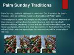 palm sunday traditions