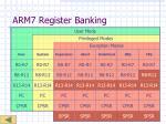 arm7 register banking