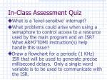 in class assessment quiz1