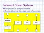 interrupt driven systems