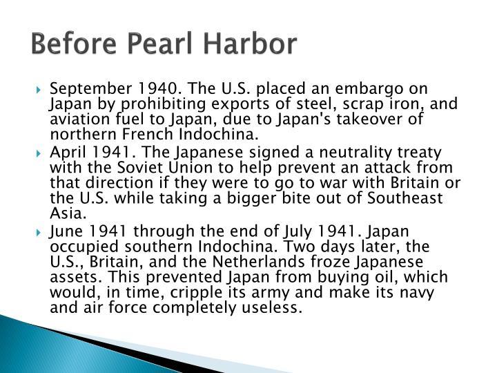 Before Pearl Harbor