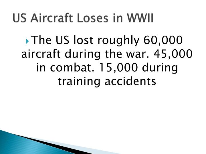 US Aircraft Loses in WWII