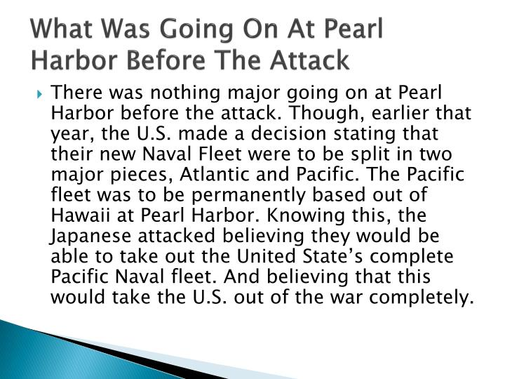 What Was Going On At Pearl Harbor Before The Attack