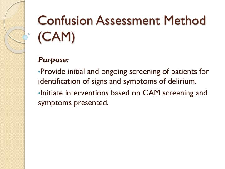 confusion assessment method cam n.