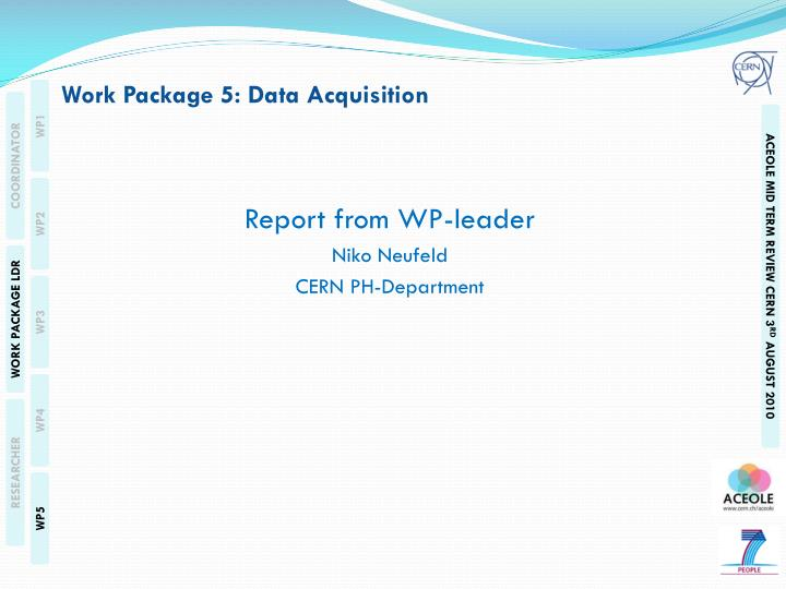 work package 5 data acquisition n.