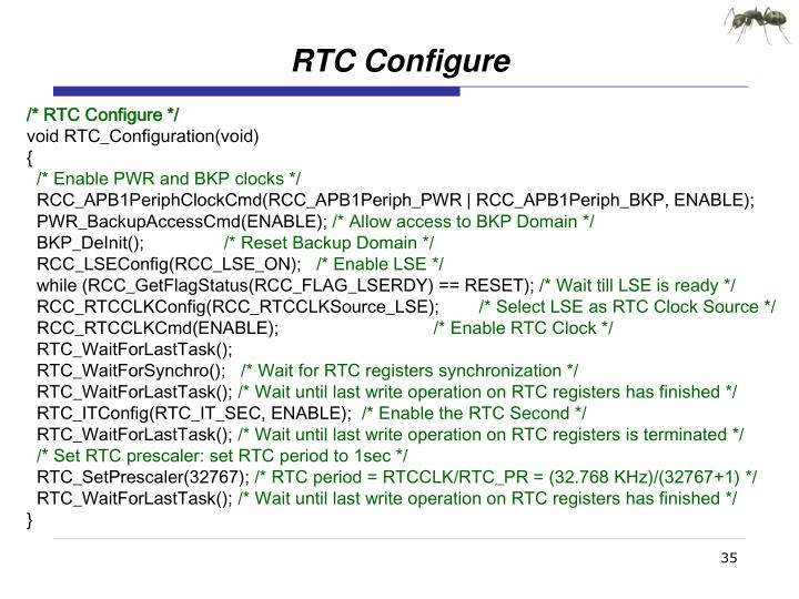 RTC Configure