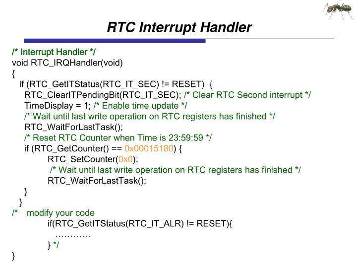 RTC Interrupt Handler