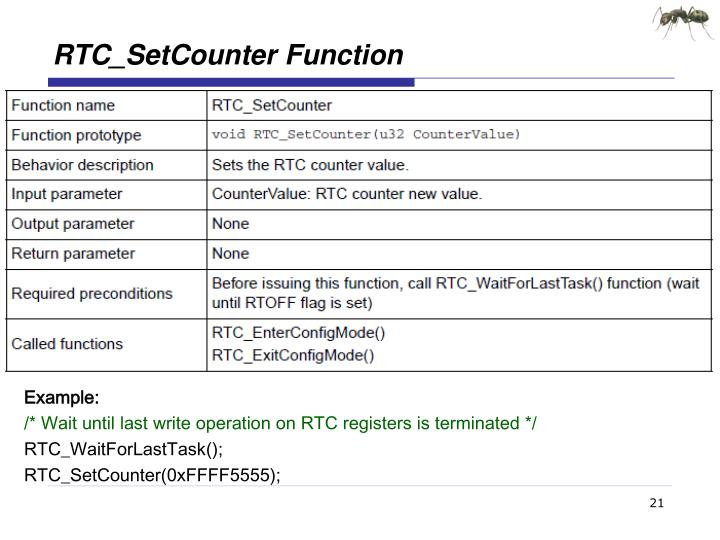 RTC_SetCounter