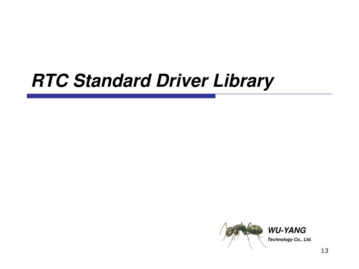 RTC Standard Driver Library