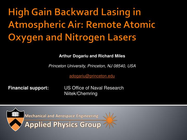 high gain backward lasing in atmospheric air remote atomic oxygen and nitrogen lasers n.