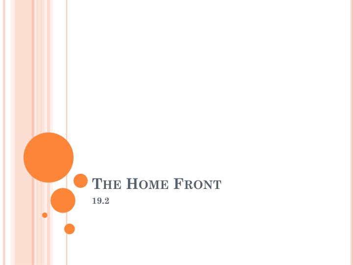 the home front n.