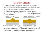 gravity effects