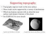 supporting topography