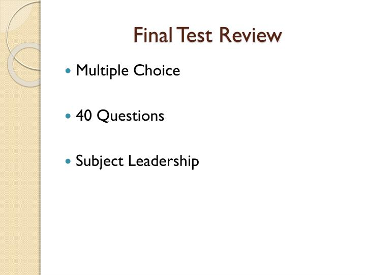 final test review n.