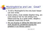 mockingbird as and lee great