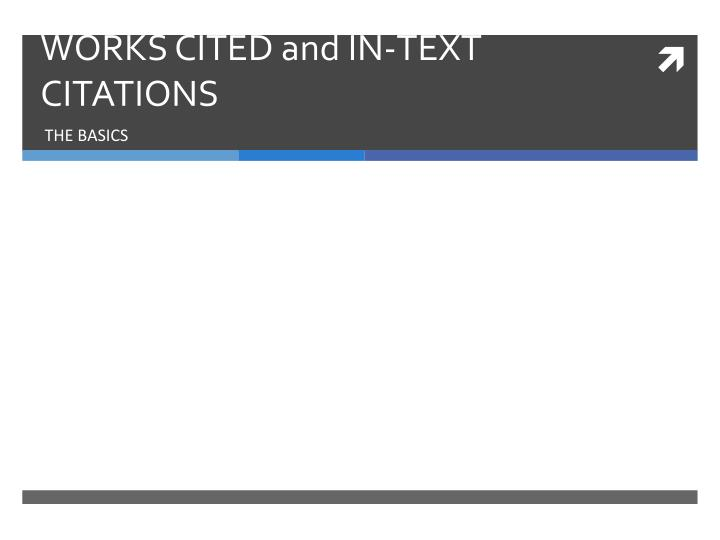 works cited and in text citations n.