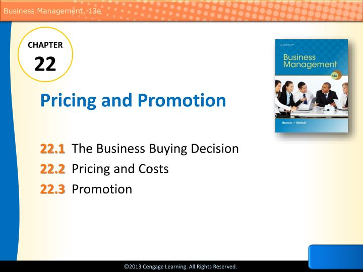 pricing and promotion n.