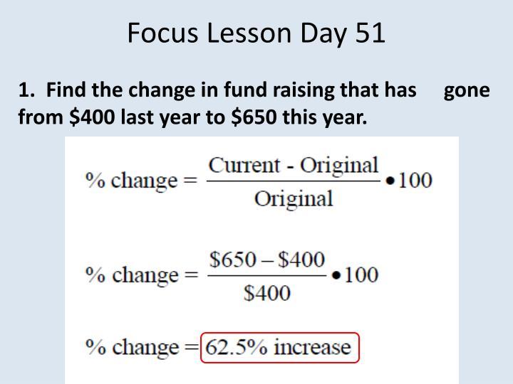 Focus Lesson Day 51