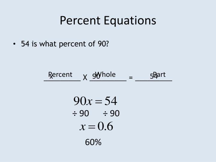 Percent Equations