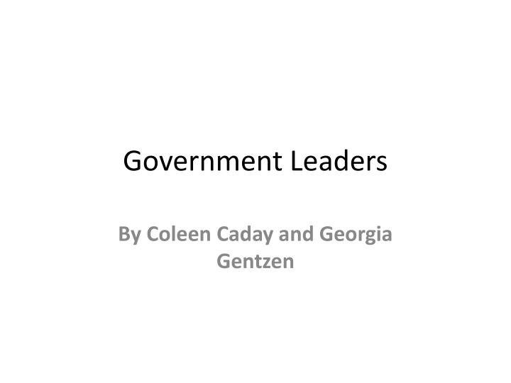 government leaders n.