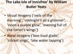 the lake isle of innisfree by william butler yeats