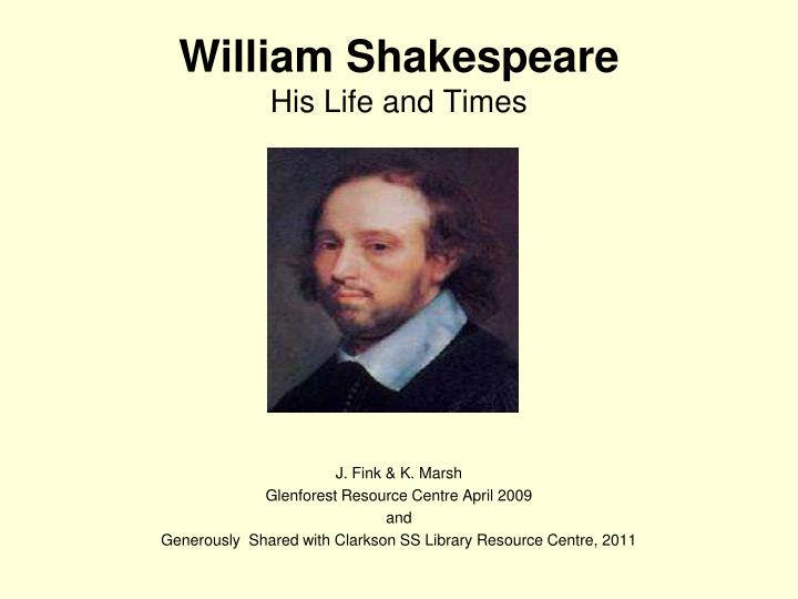 william shakespeare his life and times n.