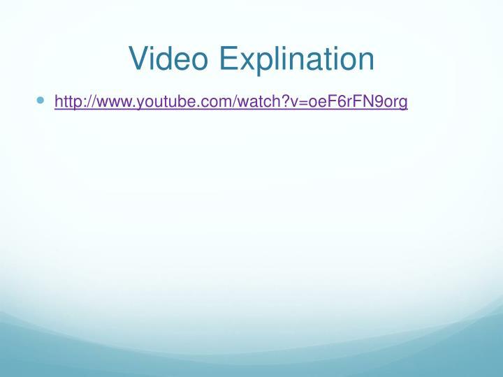 Video explination